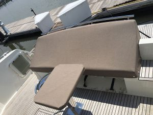 Prestige 42' Seat and table cover in Sunbrella Linen Tweed