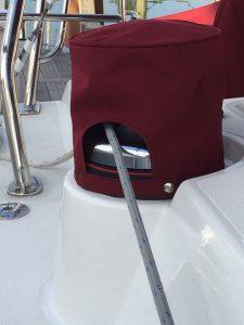 Beneteau 50' Winch Covers in Sunbrella Burgundy