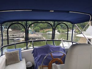 Bestway 42 Flybridge Enclosure and Bimini Top
